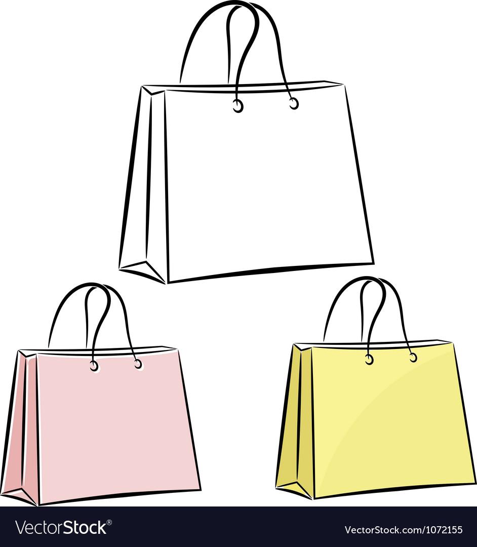 Womens handbag for shopping eps10