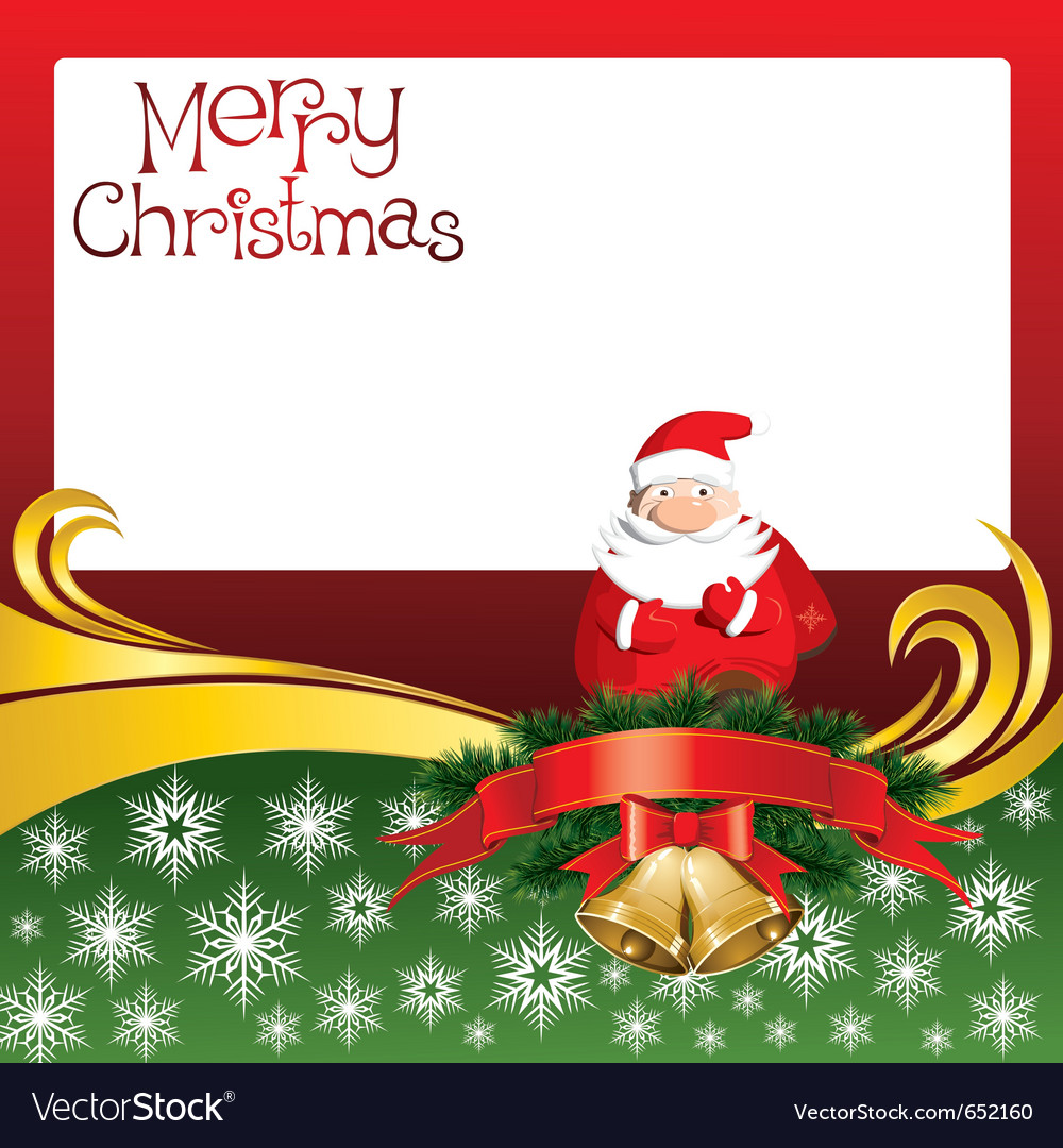 2012 christmas card with jingle bells and santa cl