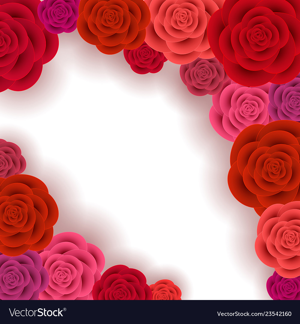 Abstract roses frame