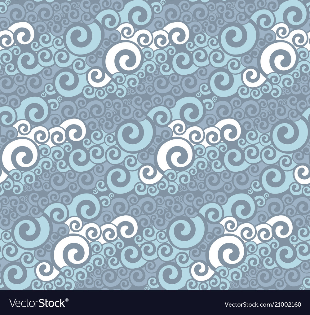 Abstract sea water seamless pattern