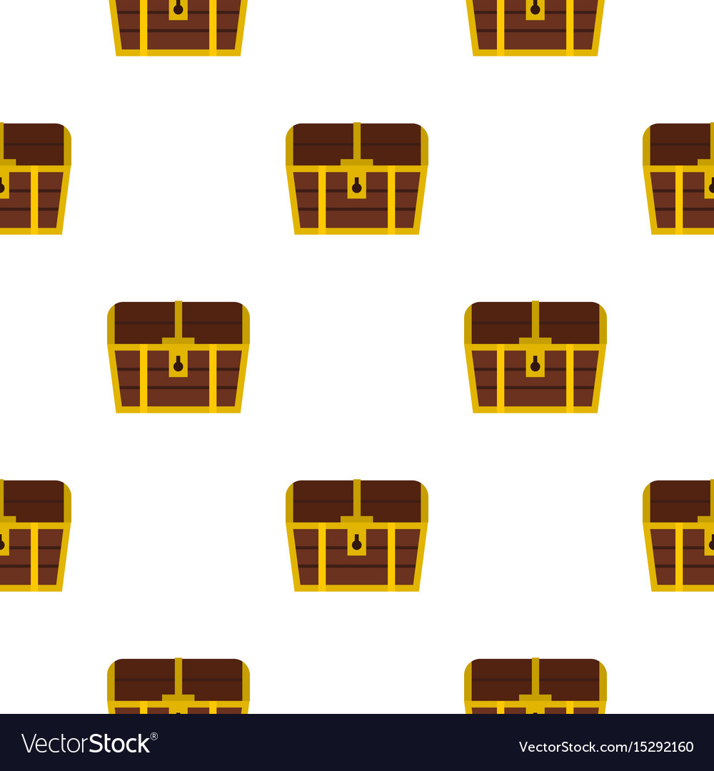 Chest pattern flat vector image