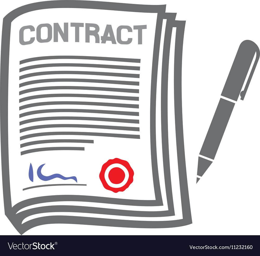 contract icon royalty free vector image vectorstock