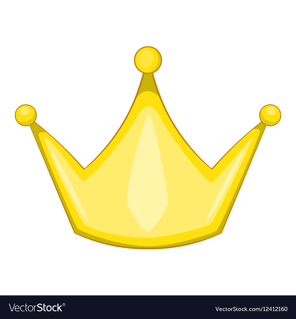 crown icon cartoon style royalty free vector image rh vectorstock com cartoon crown images cartoon crown images