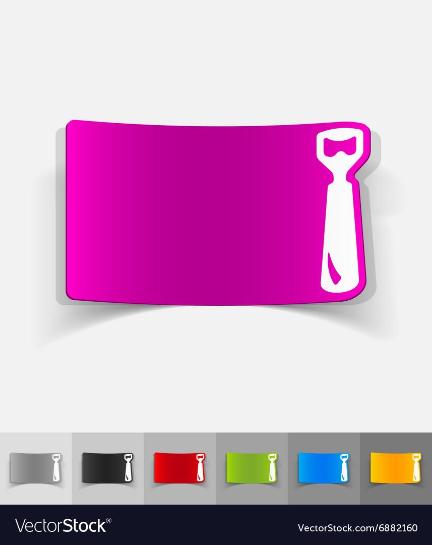 Realistic design element opener vector image