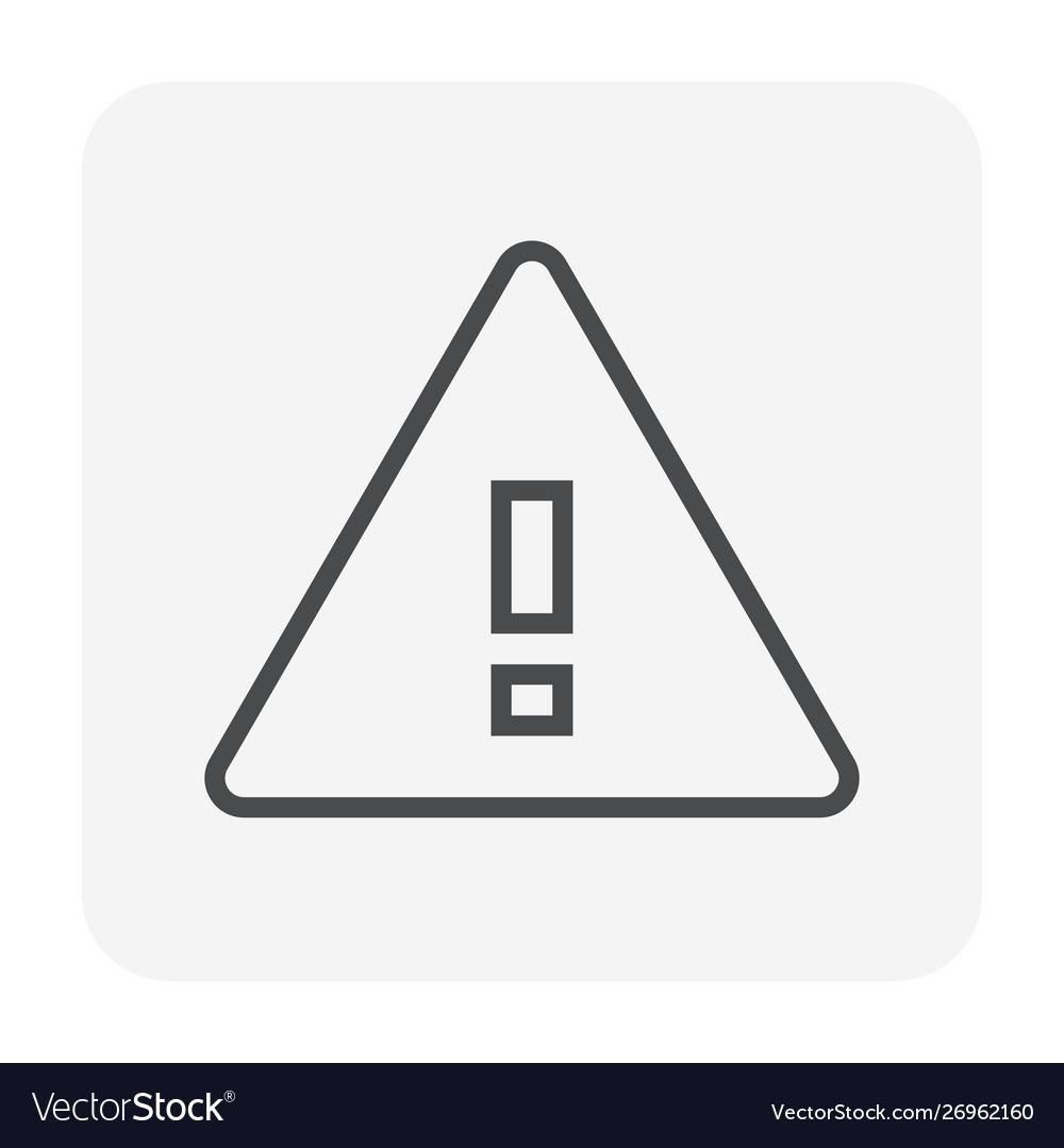 Warning icon black