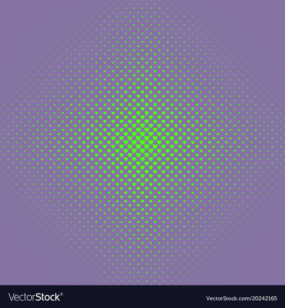 Abstract halftone heart pattern background