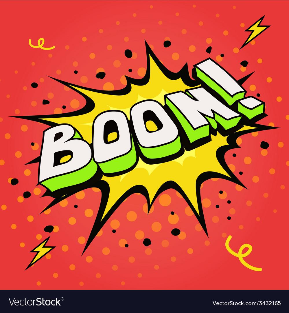 Boom Comic book explosion vector image