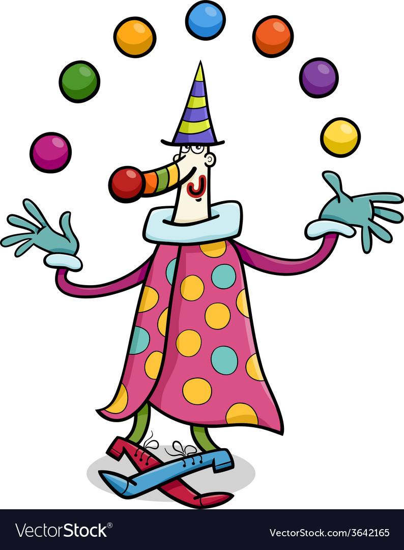 Circus clown juggler cartoon