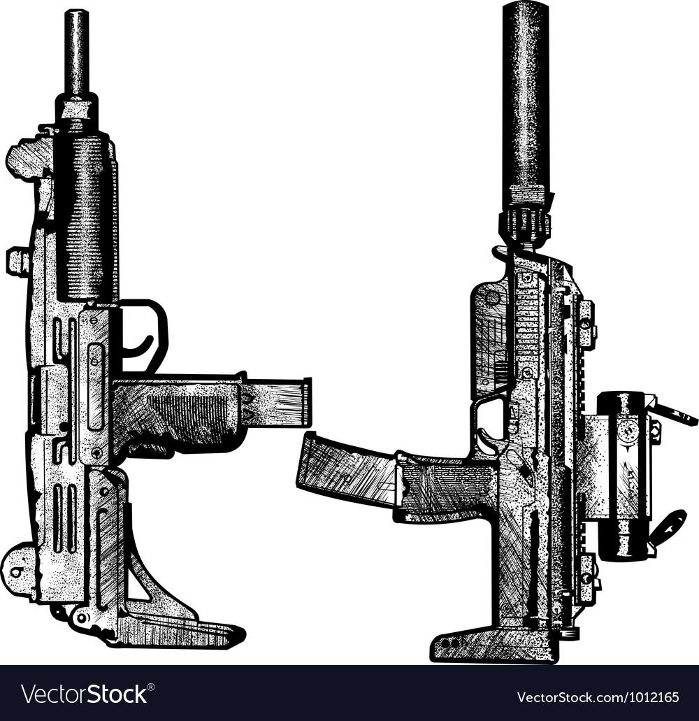 Combat weapons 2 vector image