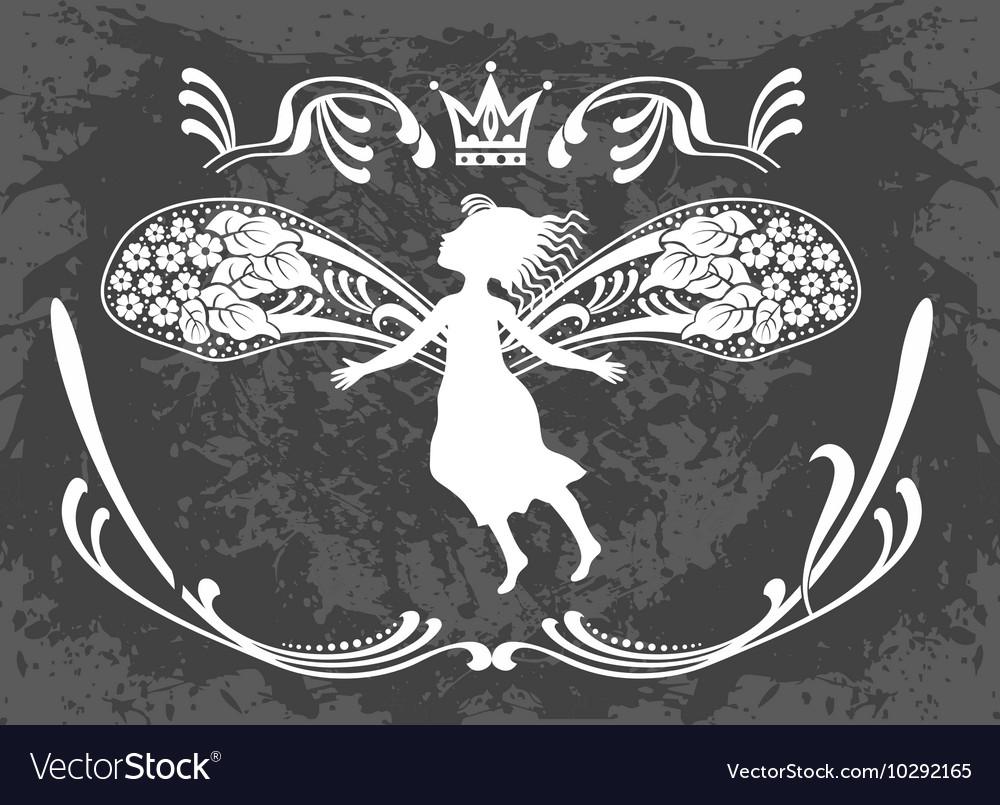 Flying beautiful fairy