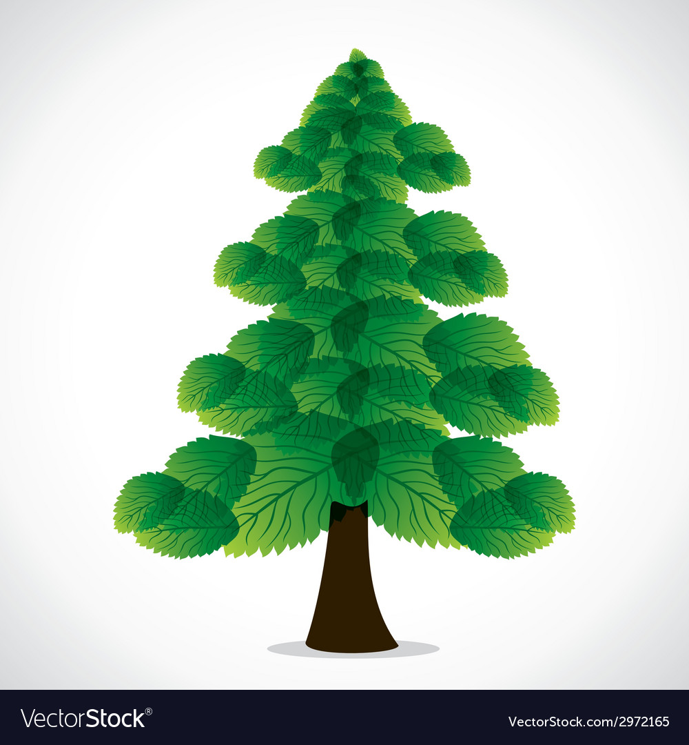 Green leaf christmas tree