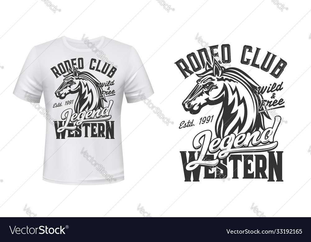 Horse mustang mascot t-shirt print stallion