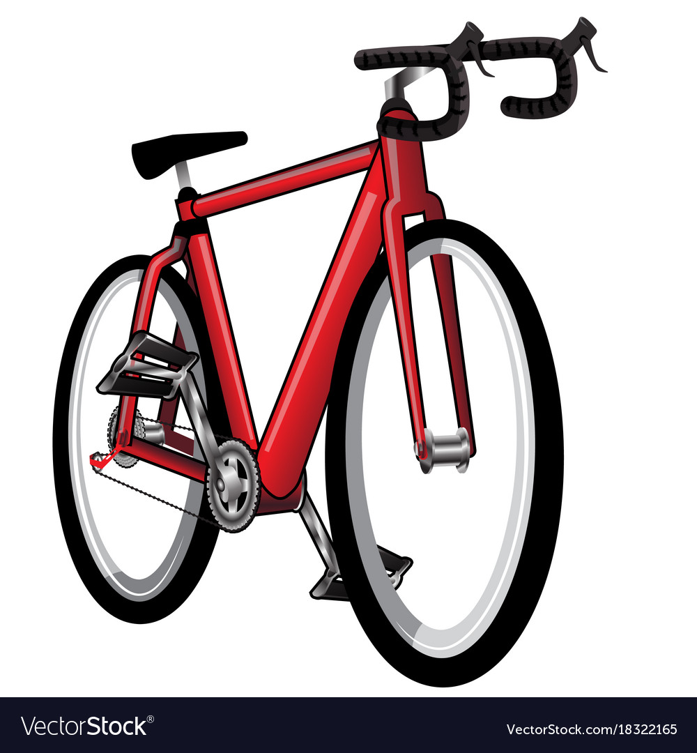 Isolated red bicycle