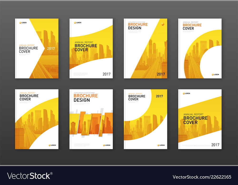 Real estate brochure cover design layouts set