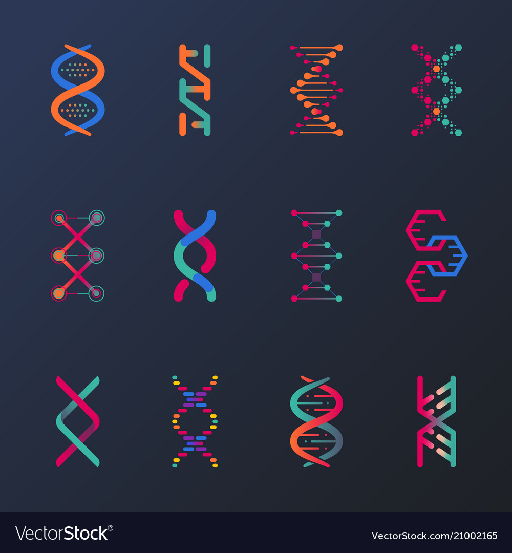 Set isolated dna helix or spirals cell