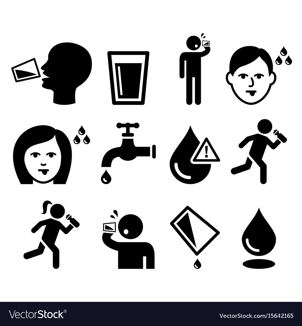 thirsty man dry mouth thirst people drinking wa vector image