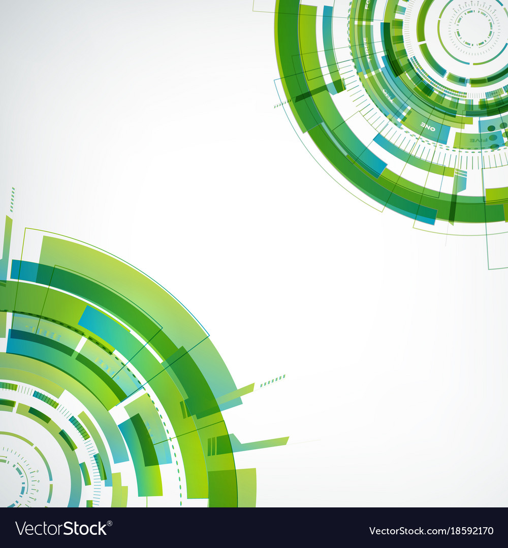 Abstract virtual technology modern template