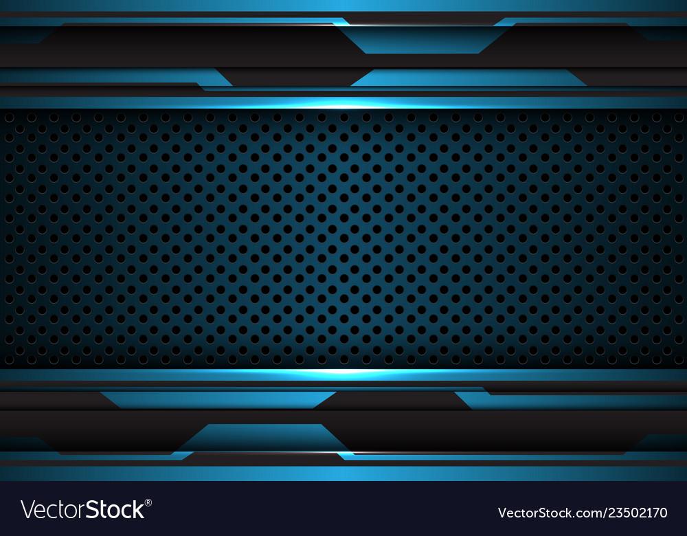 Blue black futuristic with metal circle mesh