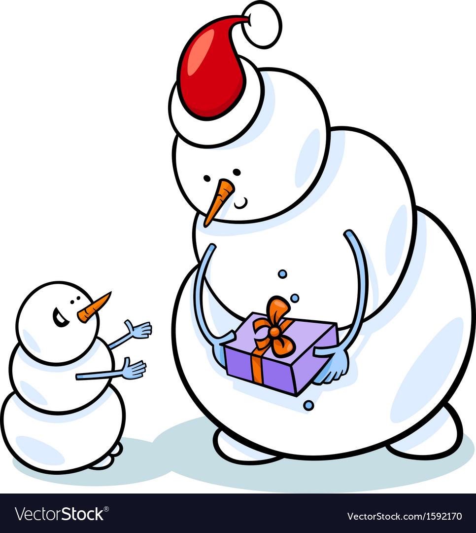 Christmas snowmen cartoon