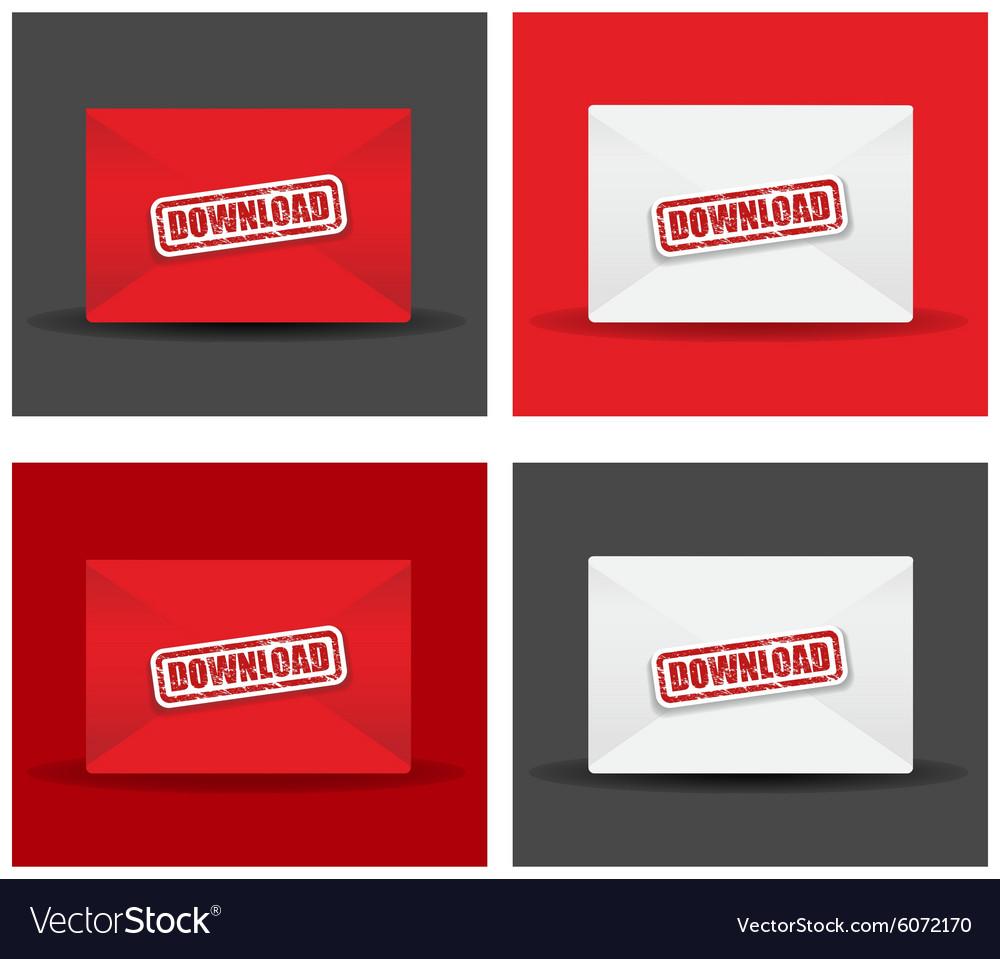 Download envelope set vector image
