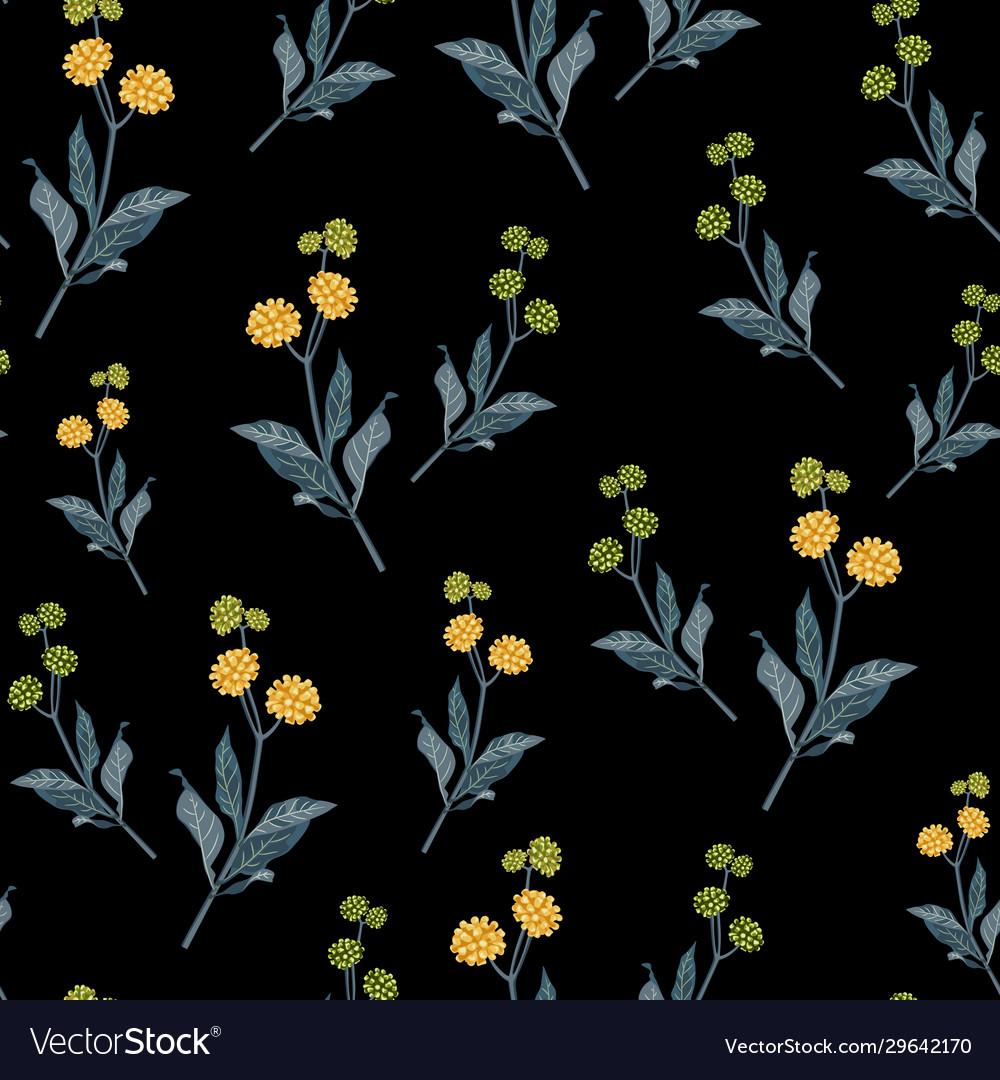 Floral pattern in many varieties wildflowers