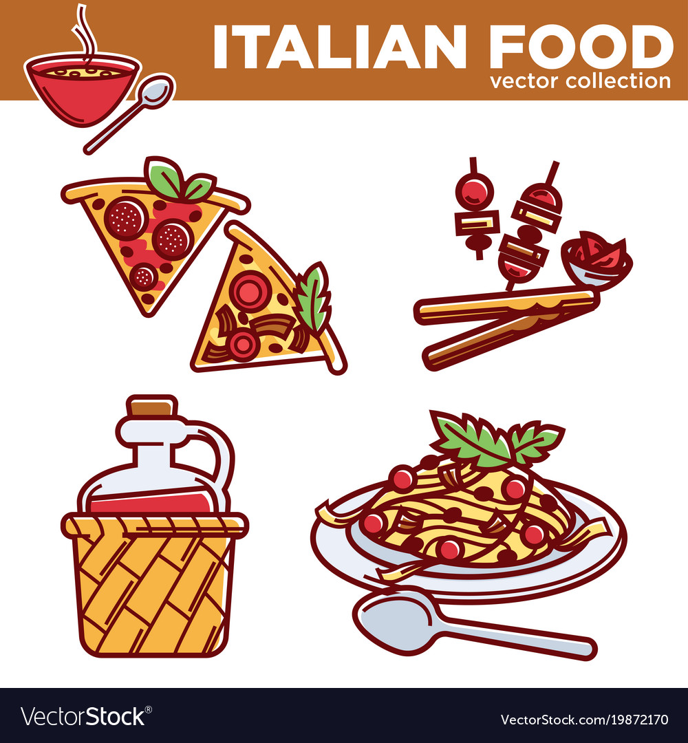 Italian food collection exquisite