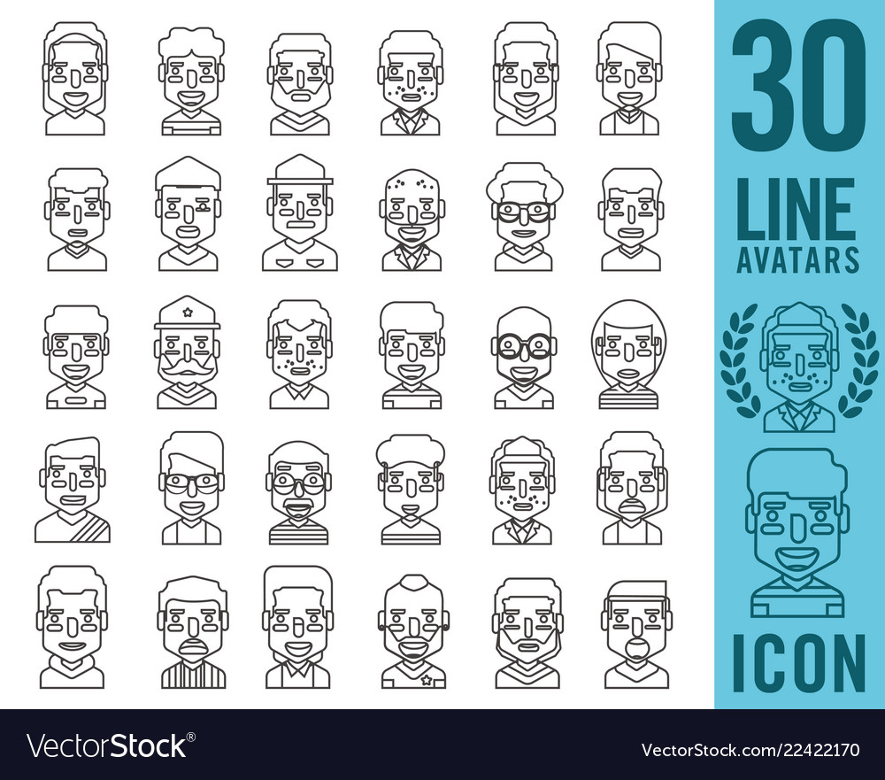 People icons with faces