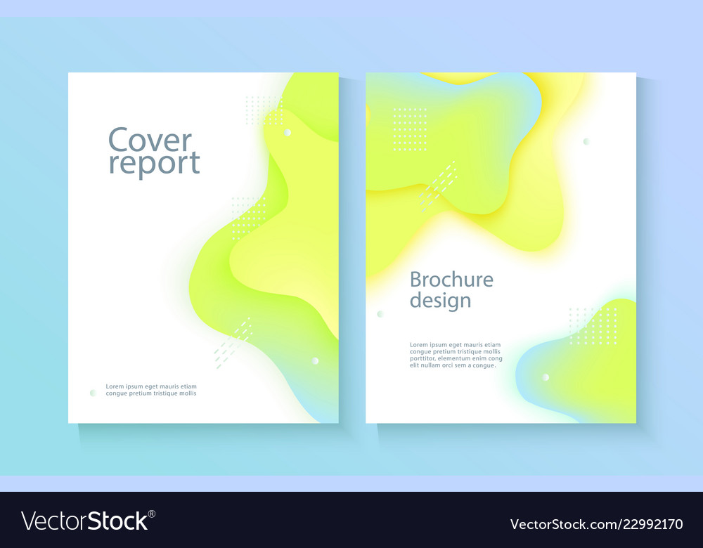Report cover template with gradient liquid drop
