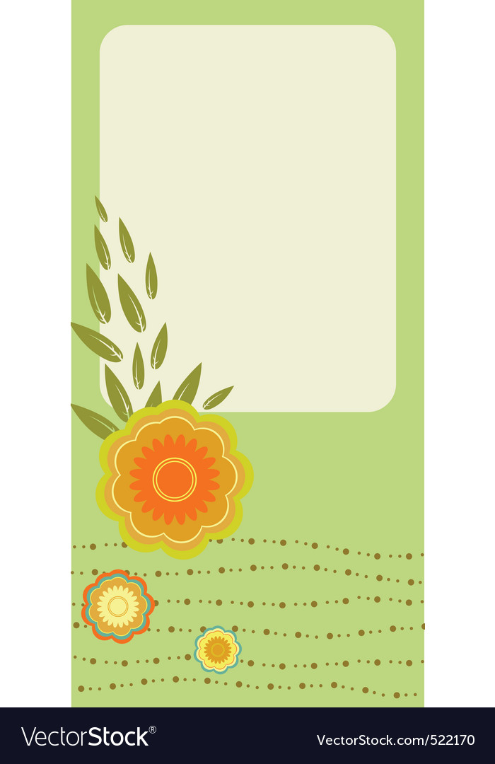 Retro greeting cards vector image