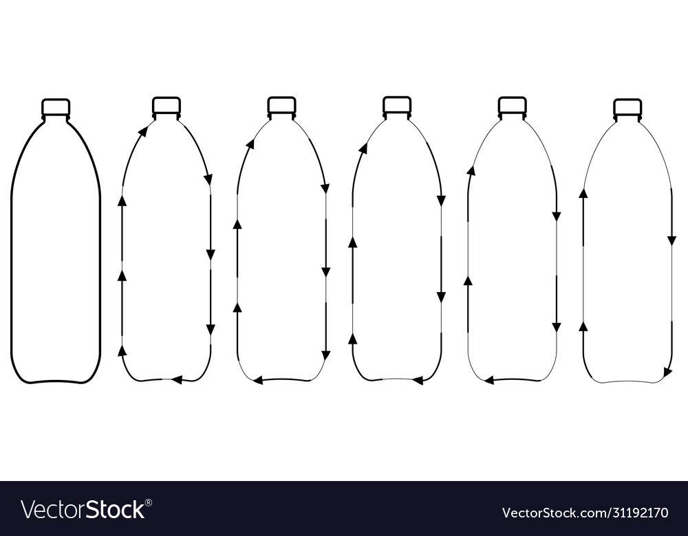 Set icons recycling plastic bottles sign