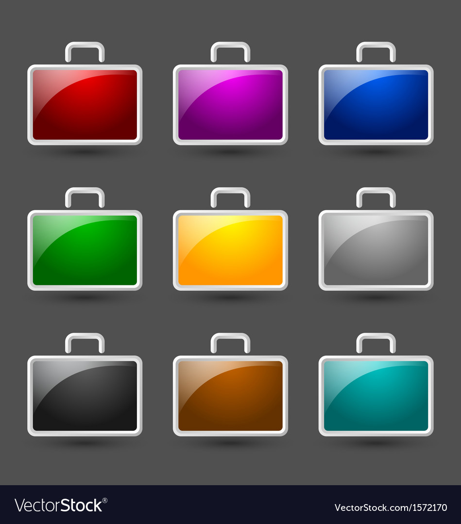 Suitcase icons
