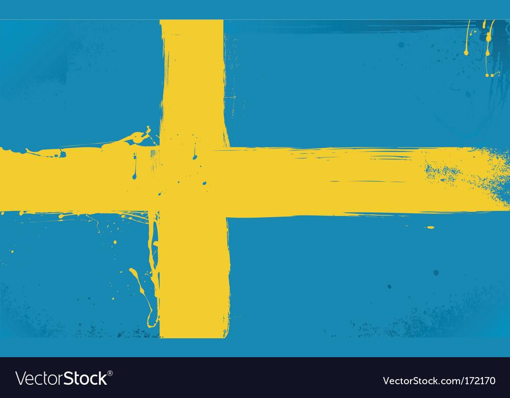 Swedish flag grunge style