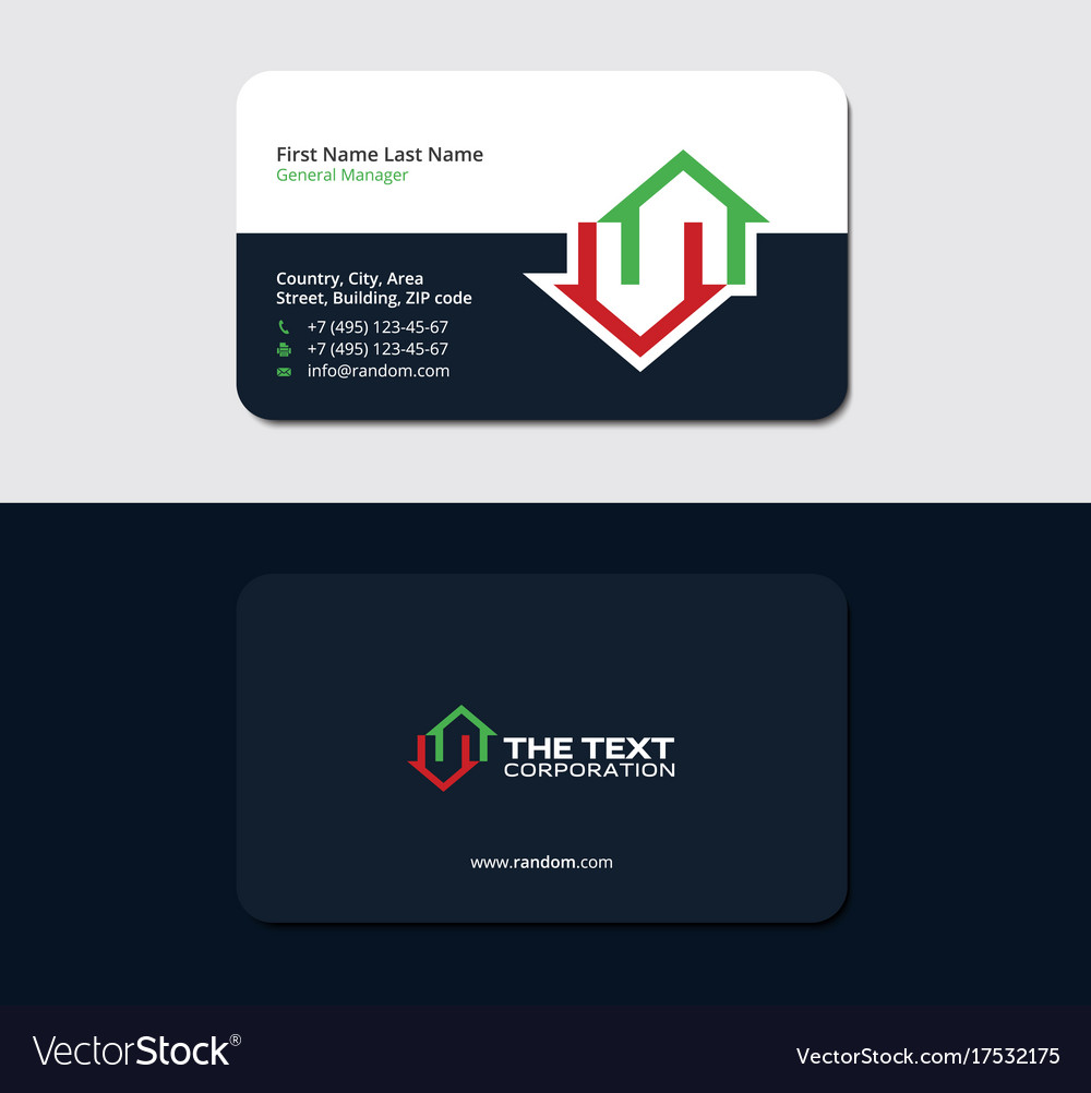Business card for real estate insurance royalty free vector business card for real estate insurance vector image colourmoves