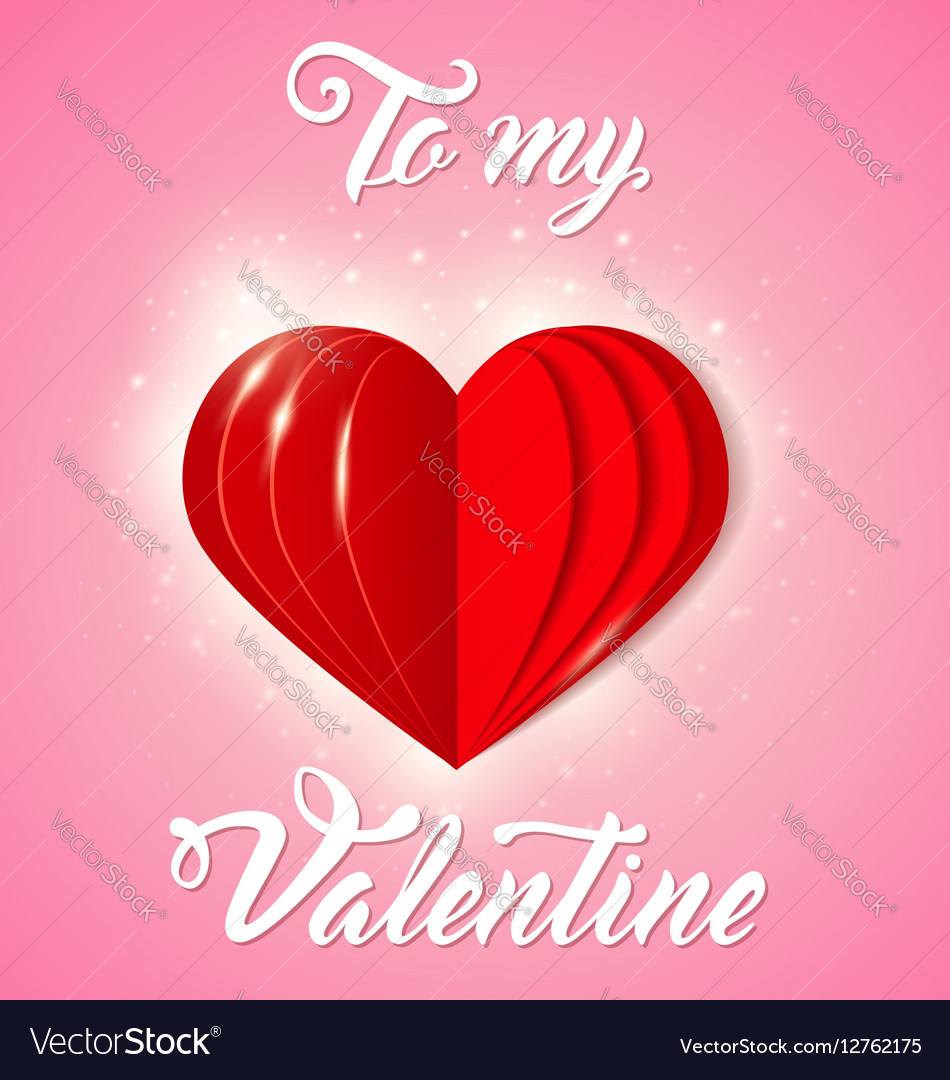 Decorative greeting card for Valentines day