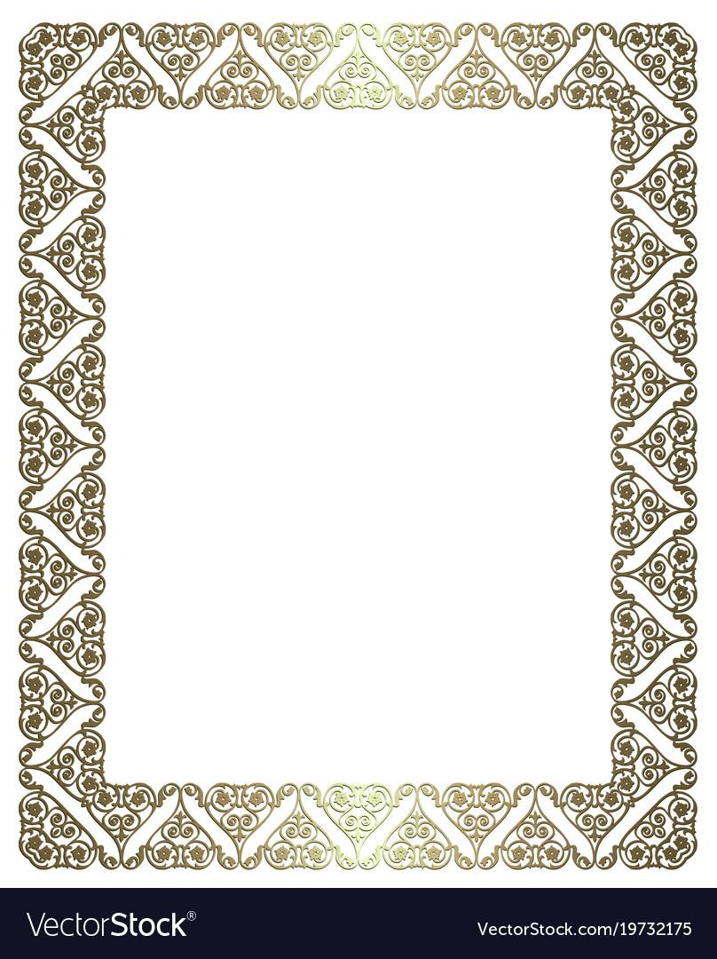 d599ceba8b1 Elegant gold frame Royalty Free Vector Image - VectorStock