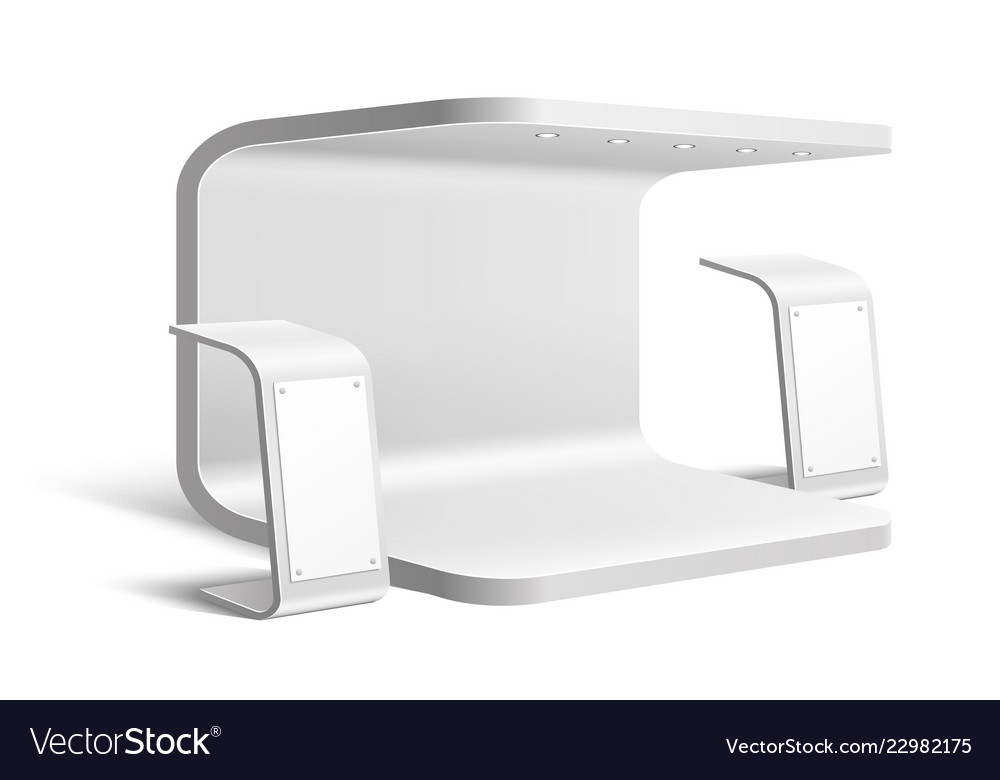 Trade Exhibition Stand Mockup Free : Exhibition stand business expo mock up royalty free vector