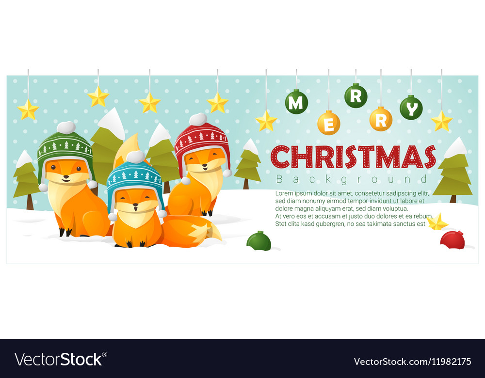 Merry Christmas and Happy New Year background with