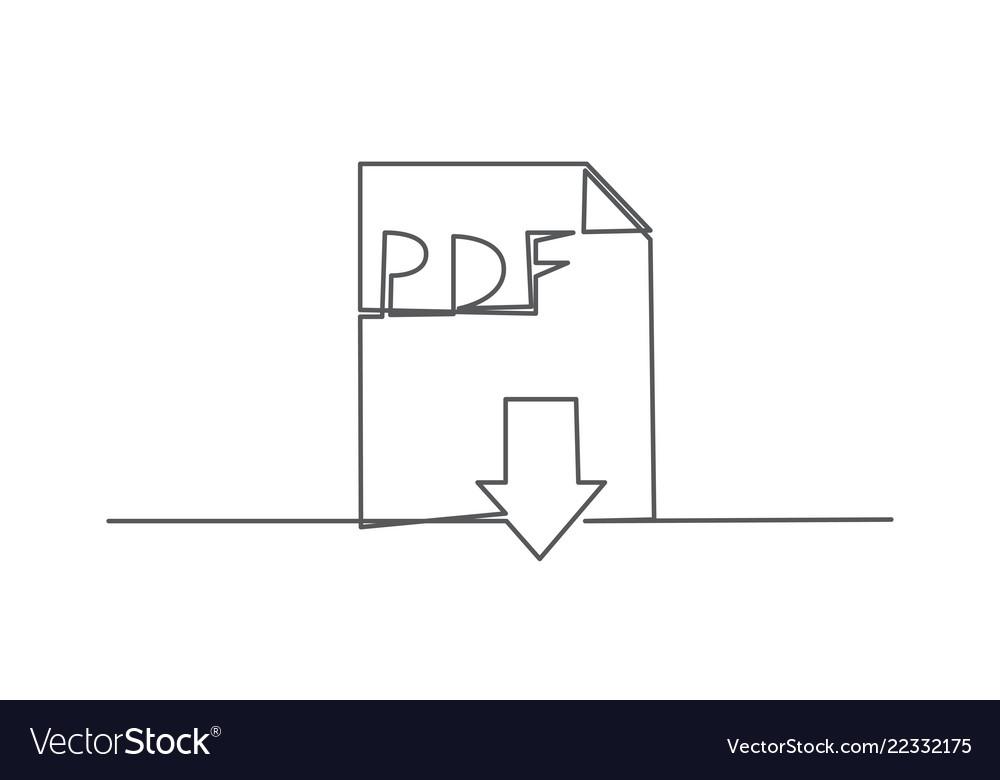 Pdf one line drawing