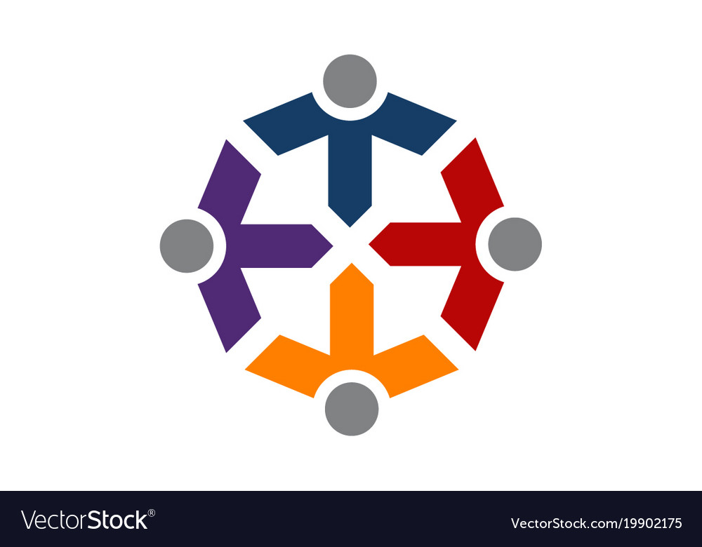 Teamwork In Diversity Royalty Free Vector Image