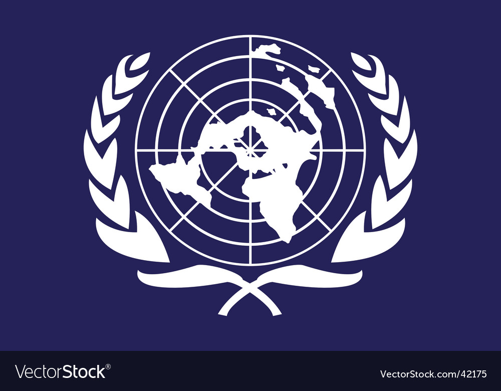 United nations flag vector image