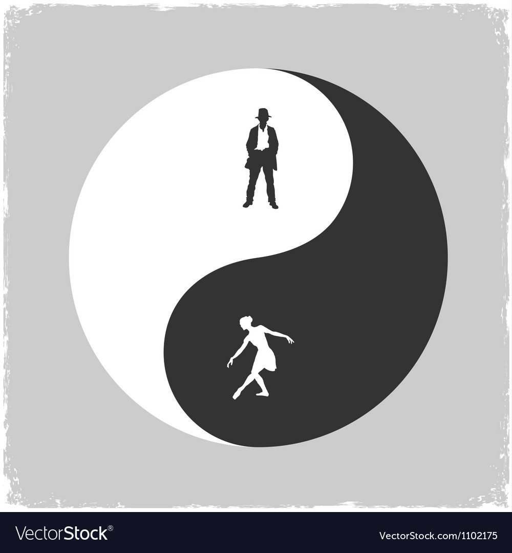 Yin Yang Male And Female Symbol Royalty Free Vector Image