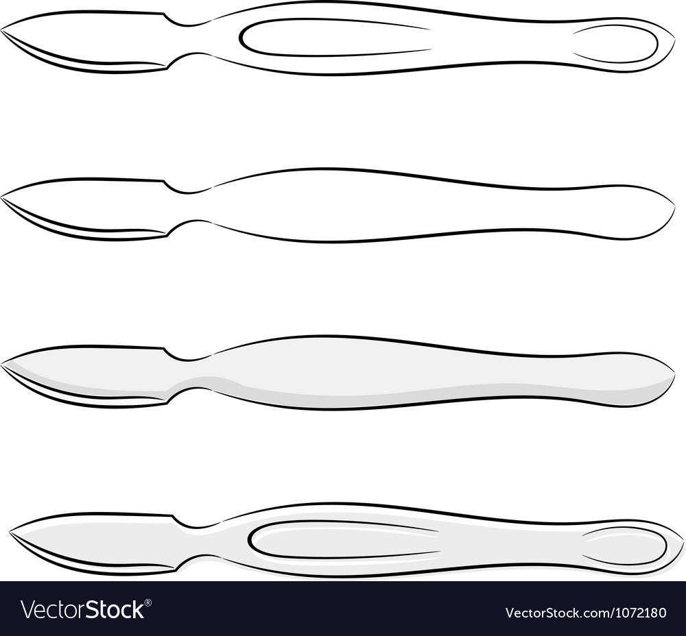 Cartoon medical scalpel eps10 vector image
