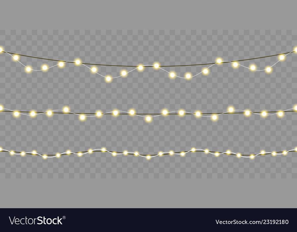 Christmas lights seamless design isolated xmas