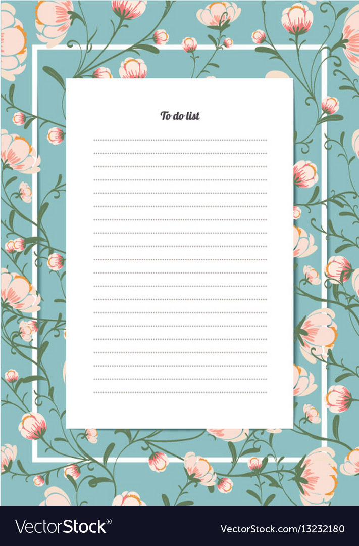 Flowers poster template to do list with a bouquet