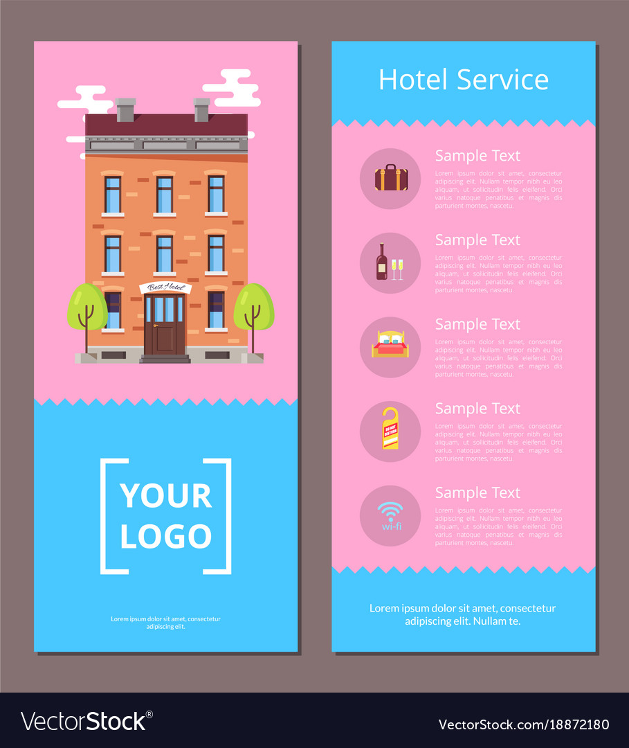 Hotel Service Booklet Template With Information Vector Image