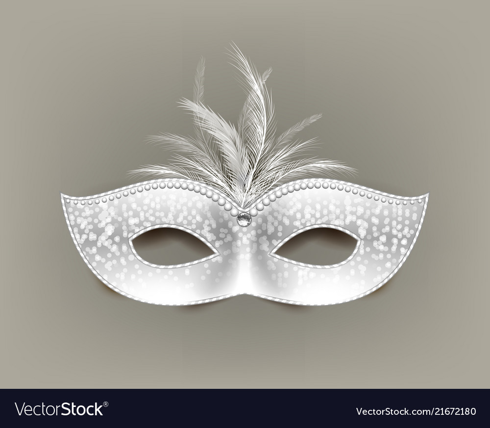 Universal carnival mask with feathers and