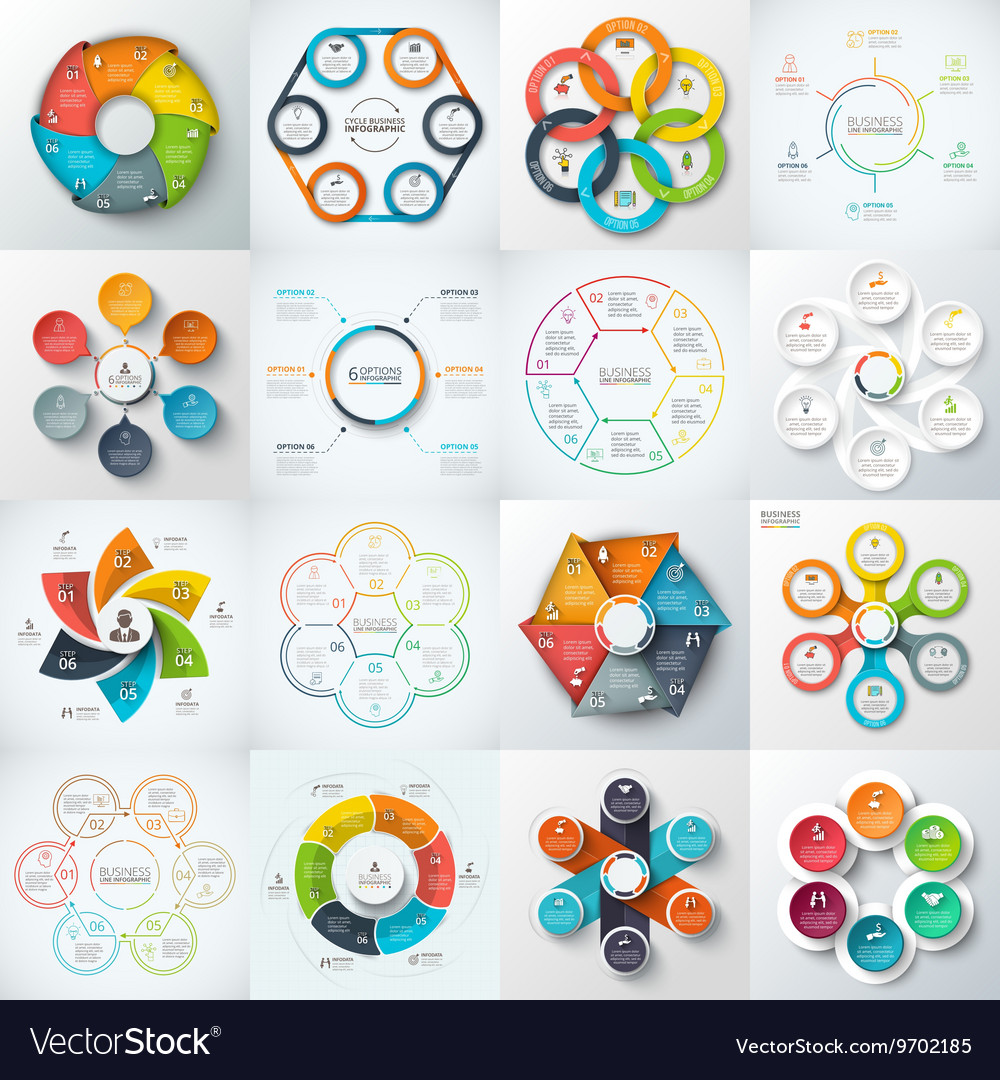 Big set elements for infographic