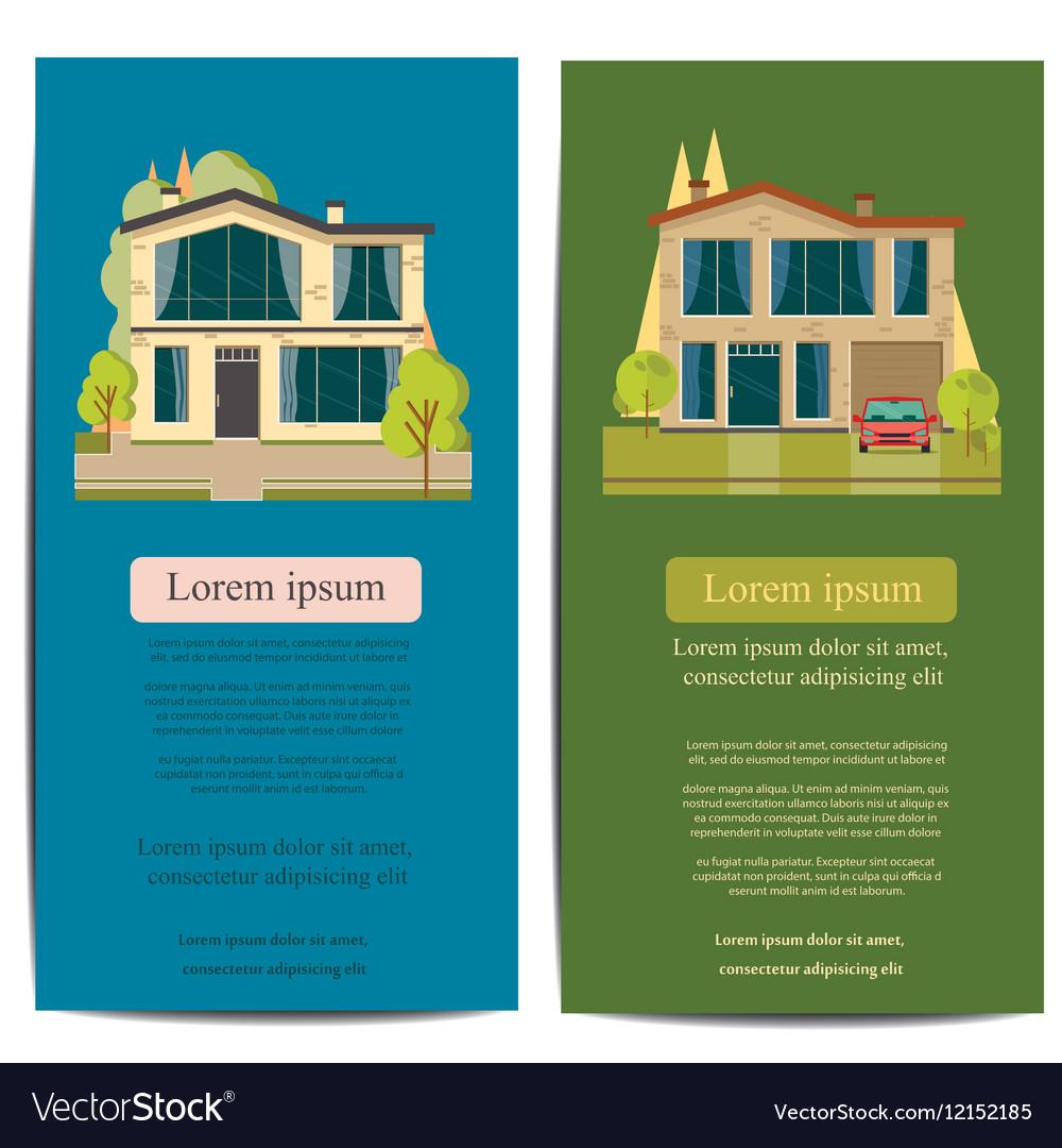 Brochure template design Concept of architecture