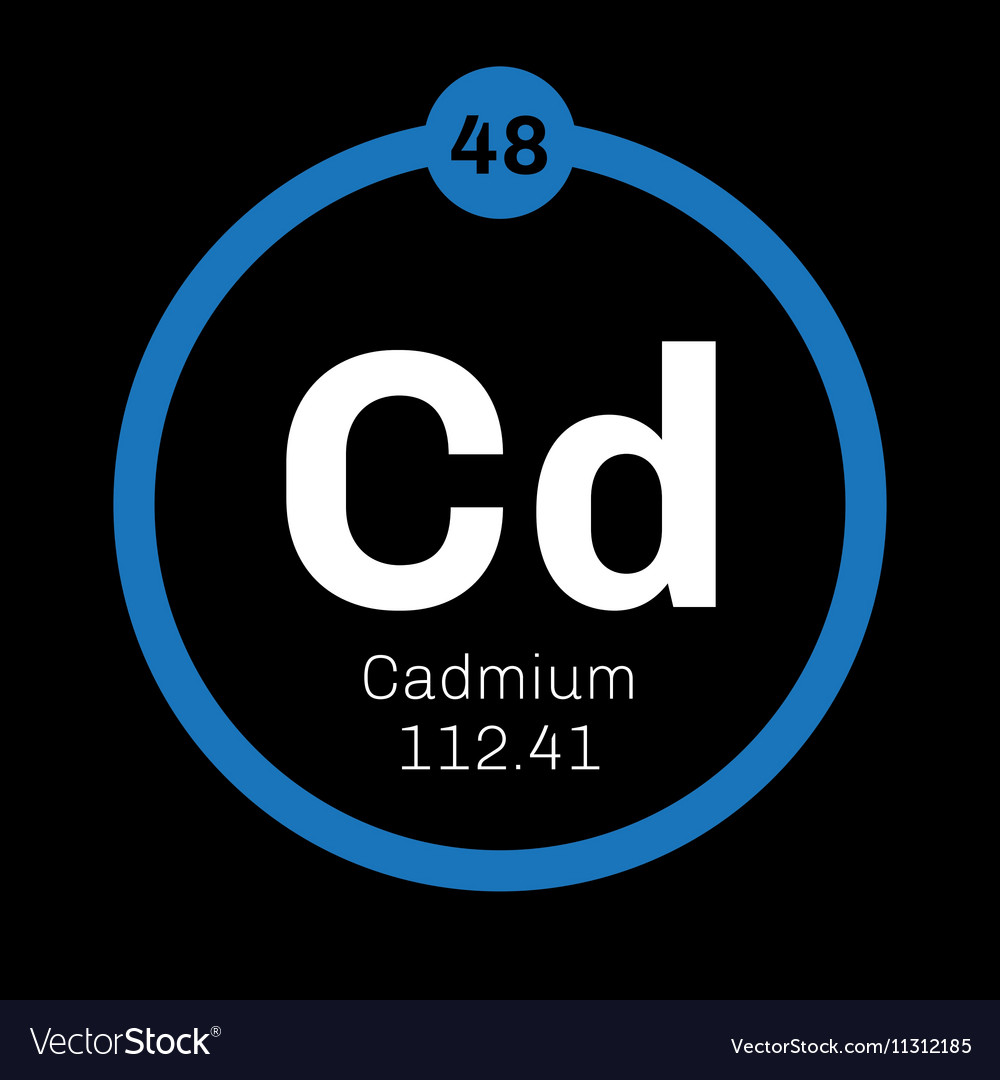 Cadmium Chemical Element Royalty Free Vector Image