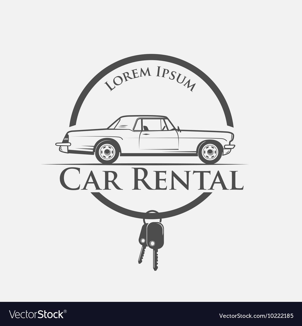 Car Rental Logo Royalty Free Vector Image Vectorstock